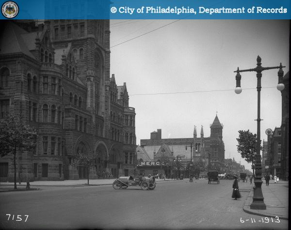 Broad and Green streets, 1913